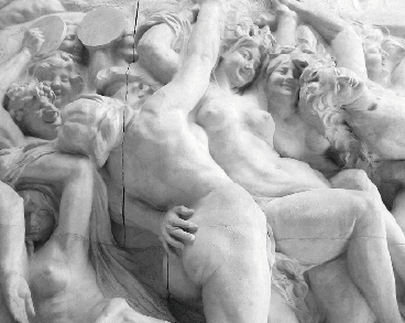 Detail from  Jef Lambeauxs marble relief