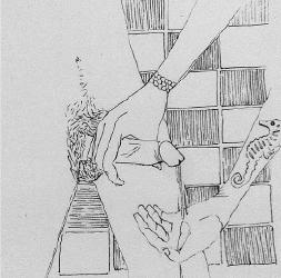 Drawing by Kiko Dinucci