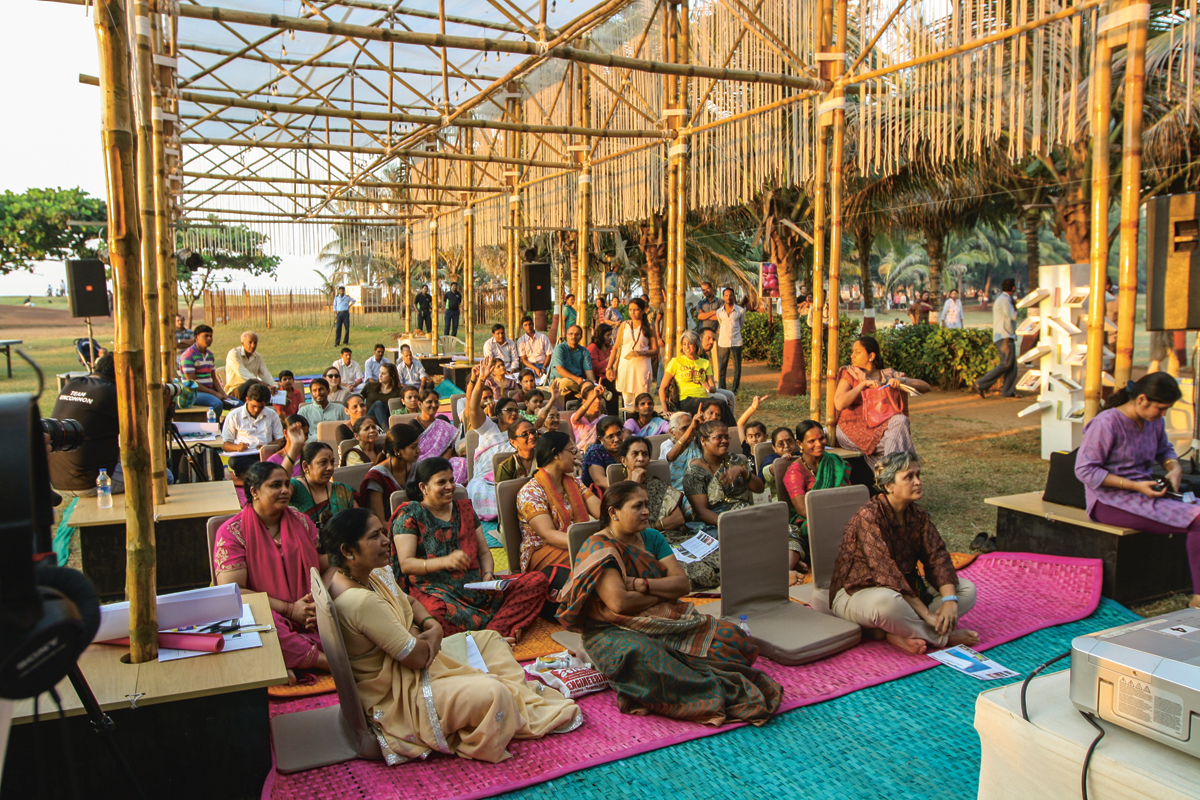 BMW Guggenheim Lab Mumbai, part urban think tank, part community center. Photo: UnCommonSense Courtesy: Atelier Bow-Wow