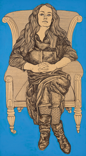 May in Black Dress on Armchair 1984–2010