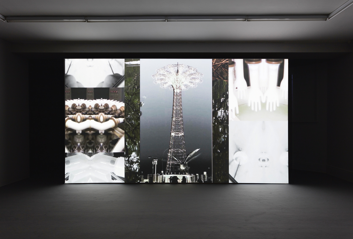 Crossing, 2016, video by Leslie Thornton and James Richards, installation view