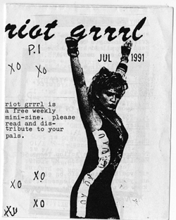The first issue of Riot Grrrl zine, from 1991. Courtesy of Fales Library, New York University
